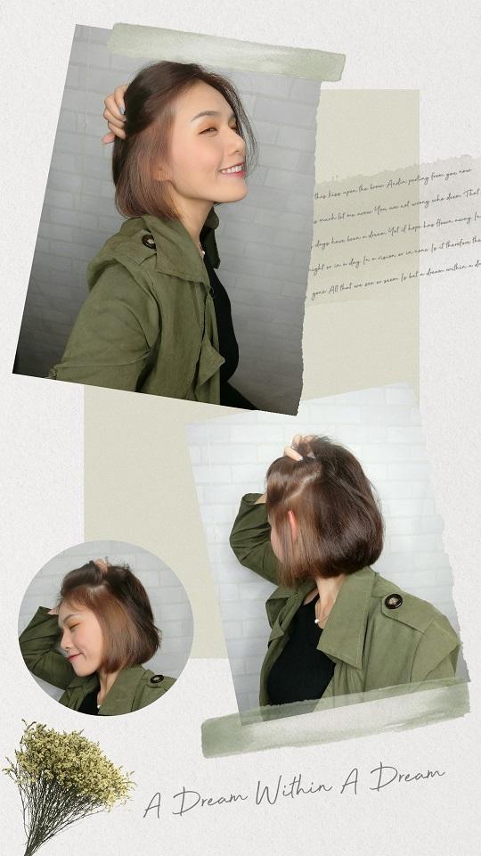 短髮 耳圈染